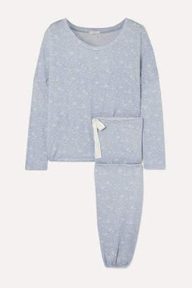 Eberjey Slouchy Printed Stretch-modal Jersey Pajama Set - Gray