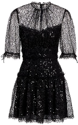 Jonathan Simkhai Sequin & Lace Mini Dress