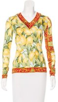 Dolce & Gabbana Lemon Print Long Sleeve Top