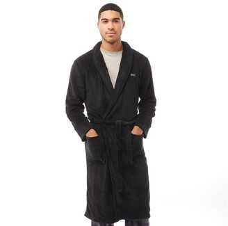 Ben Sherman Randol Fleece Robe Black