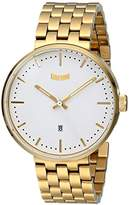 Vestal Unisex ROS3M001 Roosevelt Metal Analog Display Analog Quartz Gold Watch