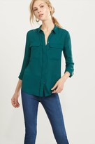 Dynamite Button Up Blouse with Pockets