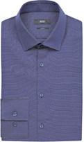 HUGO BOSS Pin dot print slim-fit cotton shirt
