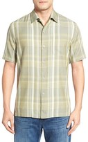 Tommy Bahama Men's Plaidopuerto Short Sleeve Silk Sport Shirt