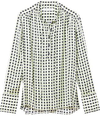 Proenza Schouler White Label Multicolor Georgette Long Sleeve Blouse