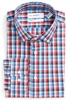 Men's Calibrate Trim Fit No-Iron Check Dress Shirt