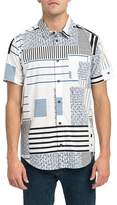 RVCA Mixed Linear Short Sleeve Shirt
