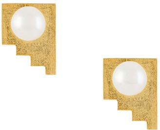 HSU JEWELLERY LONDON Making Marks pearl earrings