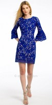 Camille La Vie Bell Sleeve Two Tone Lace Cocktail Dress