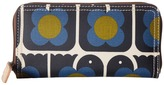 Orla Kiely Love Birds Print Big Zip Wallet Wallet Handbags