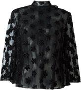 Simone Rocha semi sheer floral applique blouse