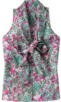 Women's Floral Print Bow-Tie Tops