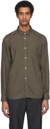 Comme des Garçons Homme Deux Khaki Garment-Dyed Shirt
