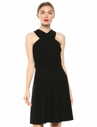 Sam Edelman Women's Sleeveless Criss Cross Neck Aline Dress