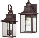 Quoizel Chancellor Outdoor Wall Lantern in Copper Bronze