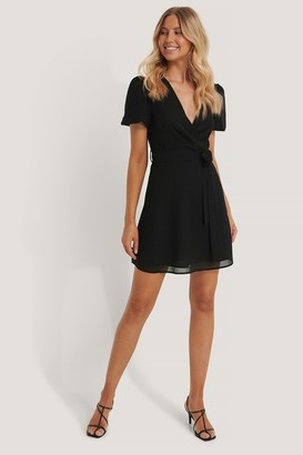NA-KD Tie Waist Chiffon Dress
