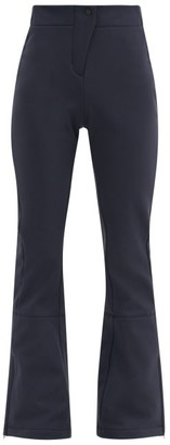Fusalp Tipi Iii High-rise Flared Soft-shell Ski Trousers - Navy