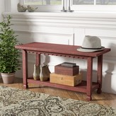 Laurèl Mangum Storage Bench Foundry Modern Farmhouse Color: Red