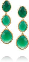 Monica Vinader Nugget 18-karat gold-vermeil onyx drop earrings