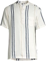Onia Anthony Stripe Linen-Blend Shirt