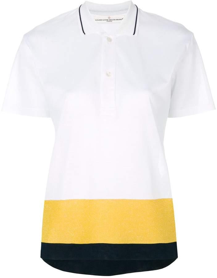 Golden Goose colour block polo shirt