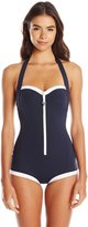 Seafolly Women's Block Party Retro Maillot One Piece Swimsuit