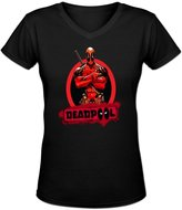 Vivianus Women's Short Sleeve T-shirts - Marvel Comics Deadpool Icon XL