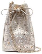 Rodo Strass embellished leather bucket bag
