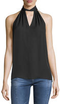 Ramy Brook Trinity Halter-Neck Sleeveless Blouse