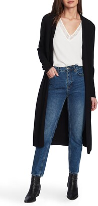 1 STATE Long Cotton Blend Cardigan