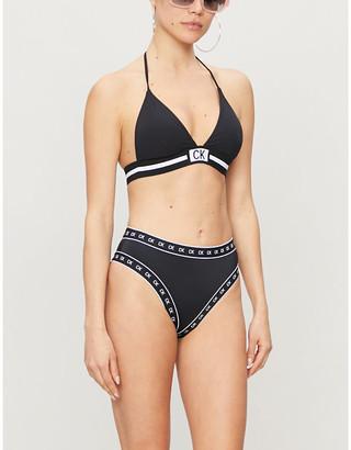 Calvin Klein Core Icon plunge bikini top