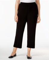 Alfred Dunner Plus Size Saratoga Collection Cropped Pull-On Pants