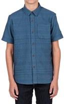 Volcom 'Sampson' Woven Short Sleeve Shirt (Big Boys)