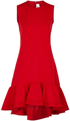 Victoria Victoria Beckham Red flared-hem shift dress