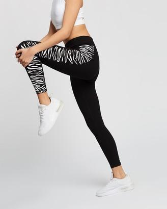 DKNY High Waist 7/8 Leggings with Zebra Placed Print