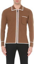 Burberry Contrast-detail knitted cardigan