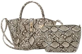 Croco UN Billion Lacy Small Tote Bag with Removable Pouch