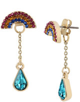 Betsey Johnson Rainbow Connection Front Back Earrings