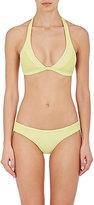 Tori Praver Swimwear Women's Olivia Seersucker Triangle Bikini Top
