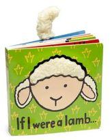 "Jellycat If I Were A Lamb"" Faux-Fur Tail Book"