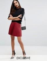 Missguided Pleated Mini Skirt