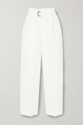 Bassike Space For Giants Oversized Belted Linen Pants - White