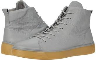 Ecco Street Tray High-Top Sneaker (Black) Men's Shoes