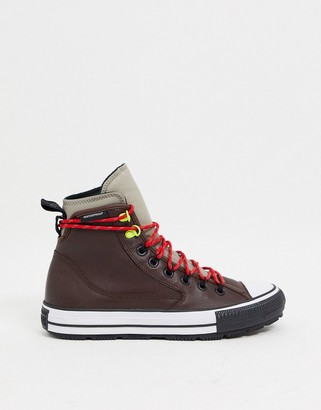 Converse Chuck Taylor All Star All Terrain waterproof leather sneaker boots in brown