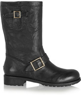 Jimmy Choo Leather Biker Boots - Black