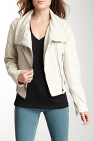 Blanc Noir BNCI by Quilted Pleated Cascade Moto Jacket