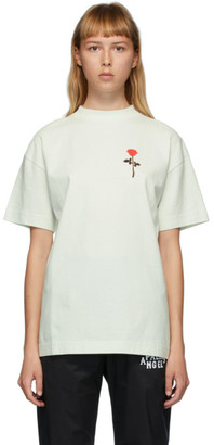 Palm Angels Green Rose T-Shirt