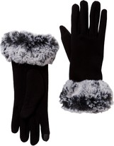 David & Young Tech Touch Faux Fur Cuff Gloves