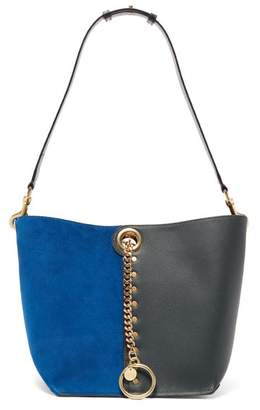 See by Chloe Gaia Suede And Leather Tote Bag - Womens - Blue Multi