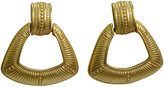 One Kings Lane Vintage Givenchy Engraved Gold Knocker Earrings - Wisteria Antiques Etc